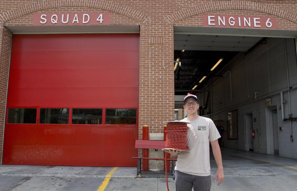Atlanta Fire Squad 4 donates retired rope to Surepaw Dog Gear