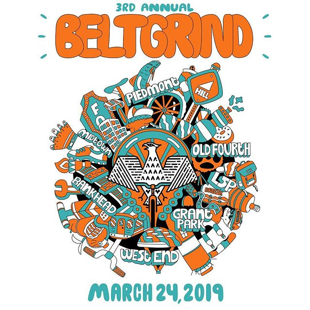 Oh the grind ... the sweet, sweet @beltgrind is upon us. So proud to be supporting a true local born and bred #ATL event that combines all of our favorite things. Bikes, brews, muddy faces, whimsical check-points, a tinge of competition, and an all around loopy Atlanta experience. The stoke level is high! Tickets still available but going fast.  As always amazing sponsors this year. All proceeds support @bearingsbike . . . . . #shoplocal #beltgrind #getloopy #weloveatl #bikeatlanta #bikeatl #atlbikelife #thegrindisstrongwiththisone @clutchbicycleshop @thewellfitcoaching @loosenutscycles @thespindleatl @urbantreecider @scampervan @clifbar @mondaynight @welshmtn @aswdistillery @montanespring @kingofpops @muchachoatl @cafecampesino @bikelaw