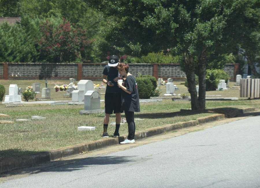 Residents in Newnan, GA play Pokemon Go. Photo Courtesy of the Newnan Times Herald.