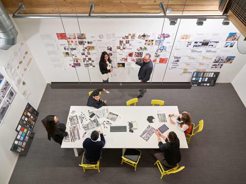 A glimpse into our workspace inside Studio One Eleven Architects + Retail Design Collaborative in Downtown Long Beach (click to enlarge)