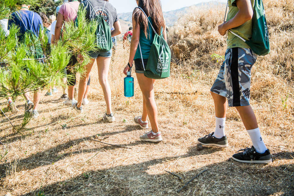 Students hike the grounds of Cesar E. Chavez National Monument during our 2016 Youth Heritage Summit.