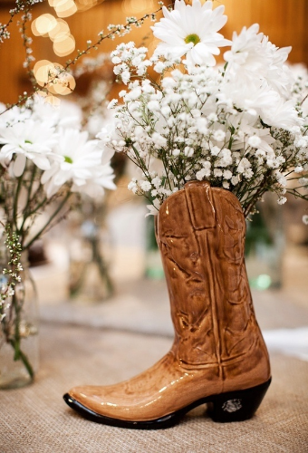 Cowgirl boots and baby's breath