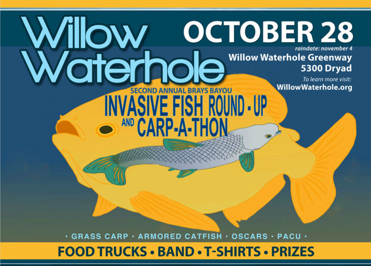 Brays Bayou 2nd Annual Invasive Species Round-Up and Carpathon @ Willow Waterhole Greenway | Houston | Texas | United States