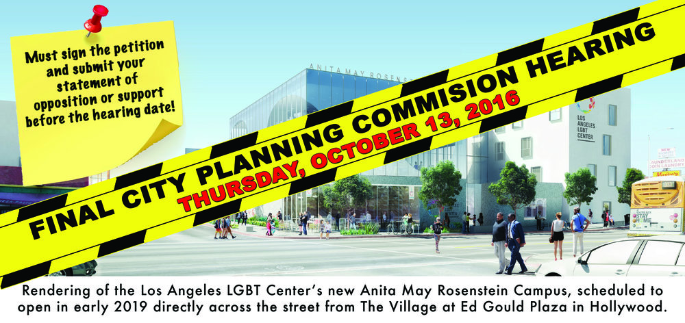 Rendering of the Los Angeles LGBT Center's new Anita May Rosenstein Campus, scheduled to open in early 2019 directly across the street from The Village at Ed Gould Plaza in Hollywood.