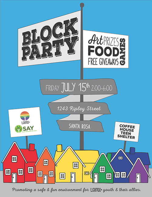 block party flier courtney cheng creative
