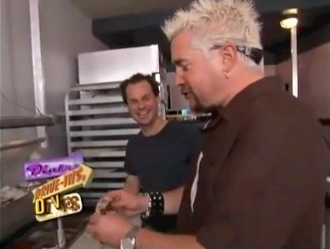 James Alefantos Owner of Comet Ping Pong with Guy Fieri