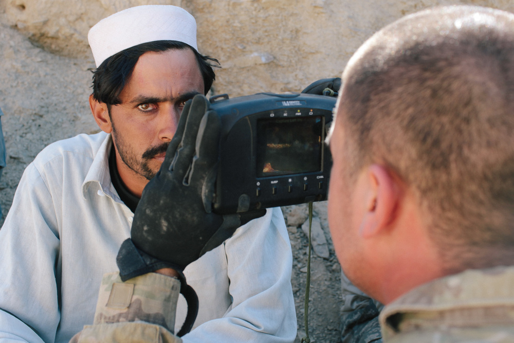 "An Afghan National Police officer suspected of trying to steal a US soldier's night vision goggles is enrolled in a biometric recognition system. The goggles, which are considered a ""sensitive item"" and could have been sold to insurgents for  a high price, were recovered."
