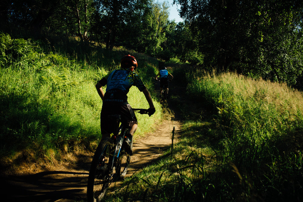 Single-track mountain biking trails abound in Kincaid park.