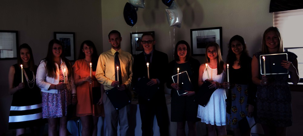 The candlelight ceremony took place at the Old Library on April 18, 2015