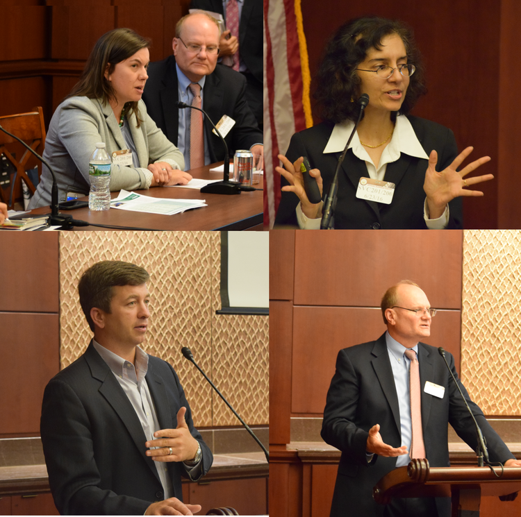 Speakers at the briefing included Jana Barresi (Top-Left), Dr. Sunita Satyapal (Top-Right), Jonathan Powers (Bottom-Left), and Frank Wolak (Bottom-Right)