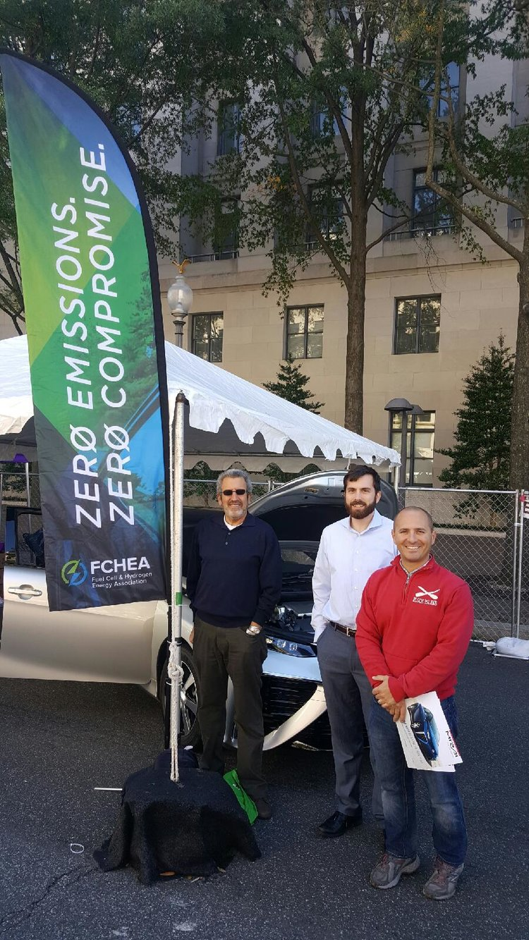 FCHEA staff with Toyota Mirai FCV at Taste of DC on October 9