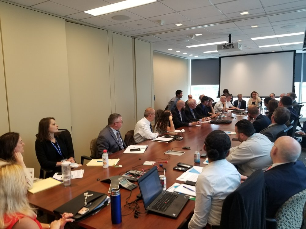 June 14: meeting with officials from the Port Authority of New York & New Jersey, and Mayor De Blasio's office in New York City.