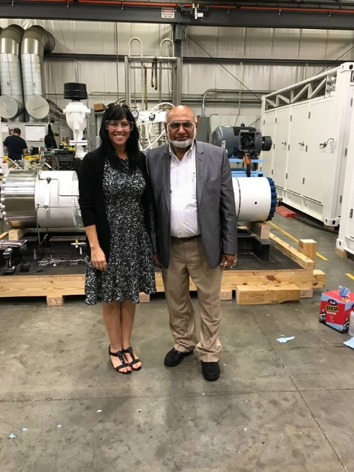 Lower Bucks County Chamber of Commerce President, Ms. Amy McKenna informed PDC Machines President Syed. M. Afzal that PDC Machines-Simplefuel was selected as the winner of the Emerging Technologies Champions award at the National Hydrogen & Fuel Cell Day Open House