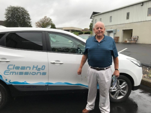 Bucks County Commissioner Charles Martin took a ride in the hydrogen car