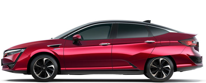 The 2018 Honda Clarity Fuel Cell mid-size sedan.