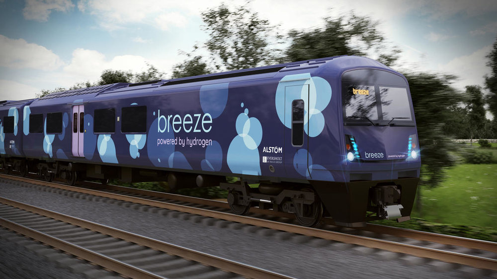 "Design concept for the hydrogen powered ""Breeze"". Source: Alstom"