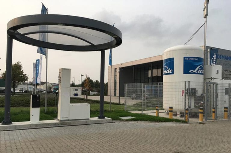 Newly opened hydrogen refueling station in Hannover. Source: Linde.