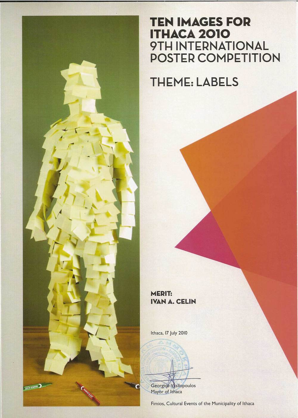 Labels / Poster Design / Ten Images for Ithaca ( WINNER )