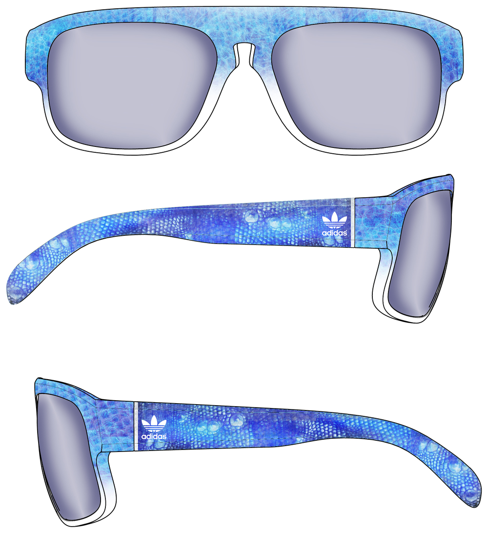 Frozen Lizard / SunGlasses Design / Product Design /  Adidas ( talenthouse)