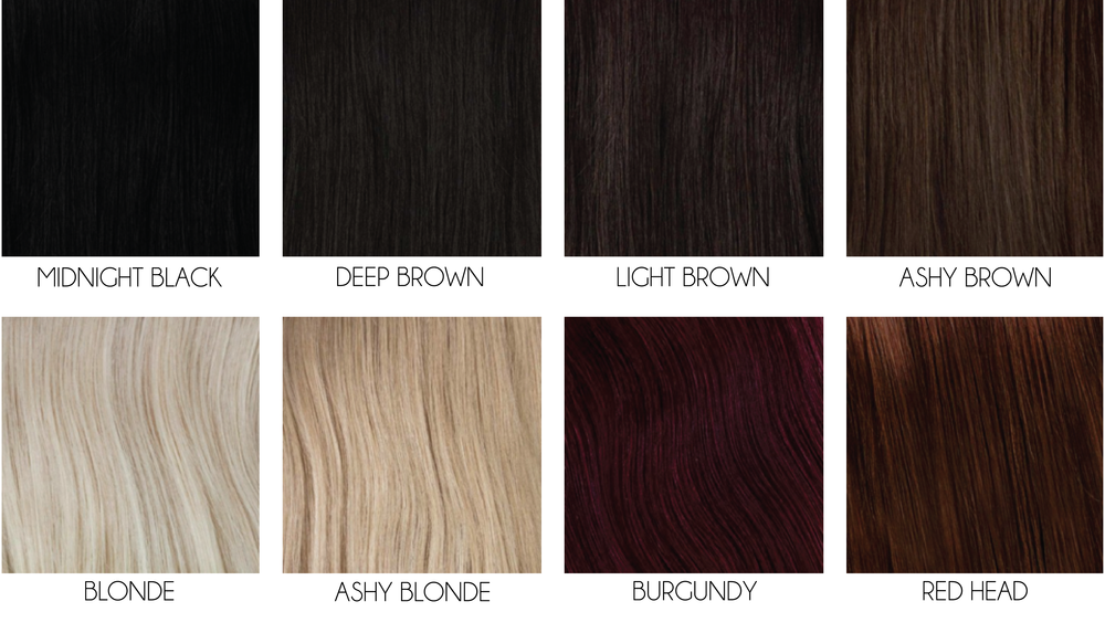 Bangs Color swatches