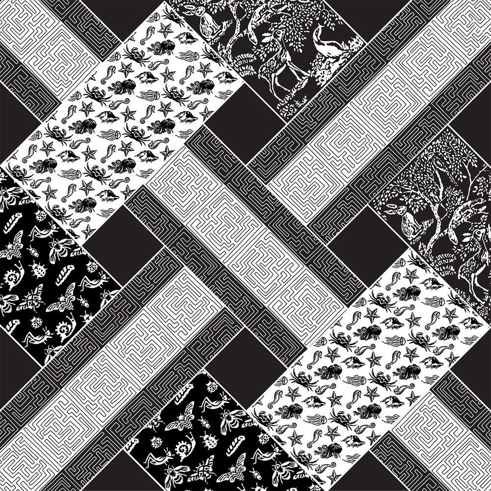 Detail of my design: it is a repeat design, like those used in quilting