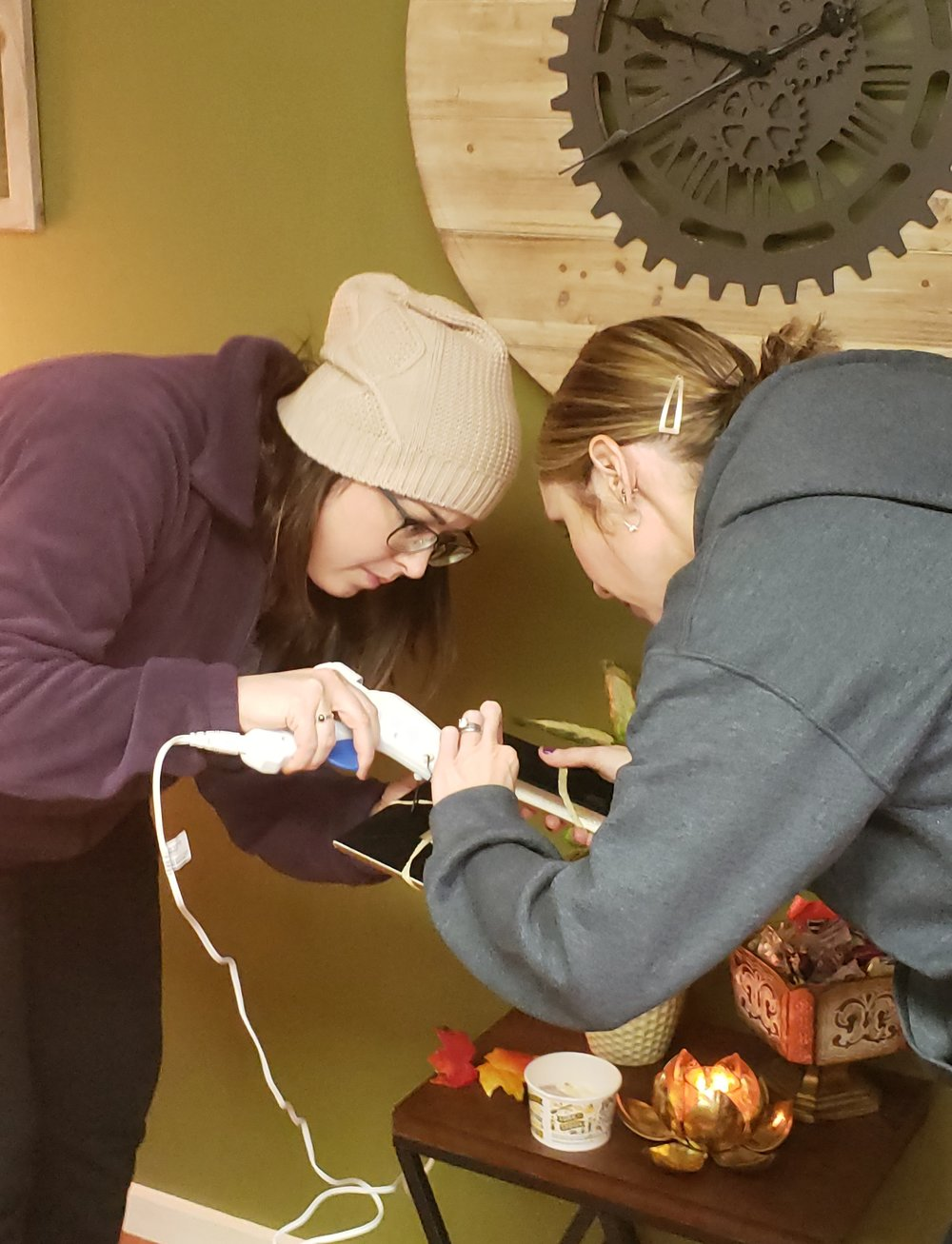 The Girls collaborate in Crafting Class