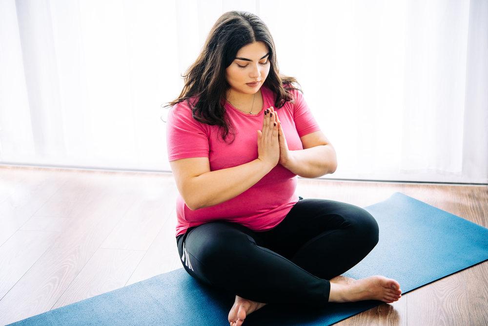 plus size yoga