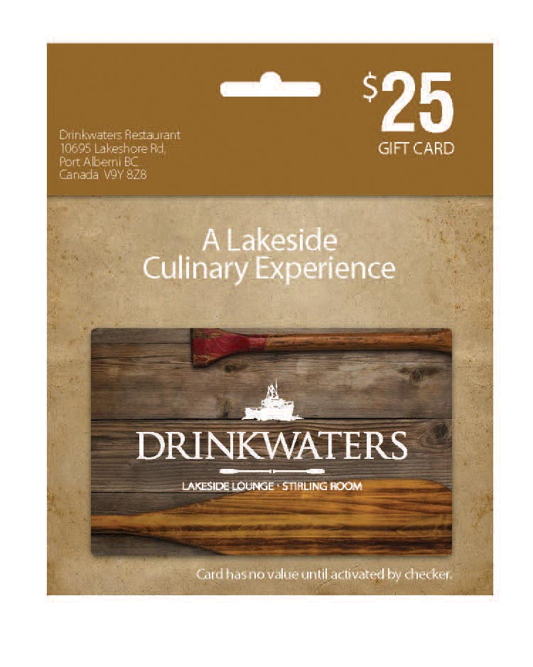 DRINKWATERS GIFT CARD - $25