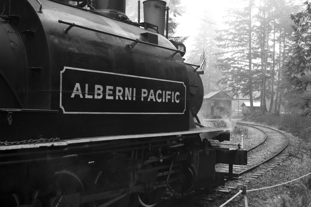 ALBERNI VALLEY STEAM TRAIN and McLEAN MILL