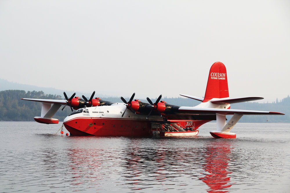 MARTIN MARS BOMBER ON SPROAT LAKE