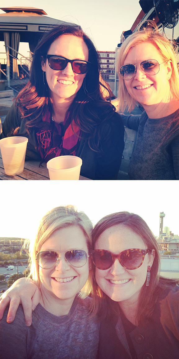Having a well deserved drink on the rooftop of Nylo after the Dallas Flea.