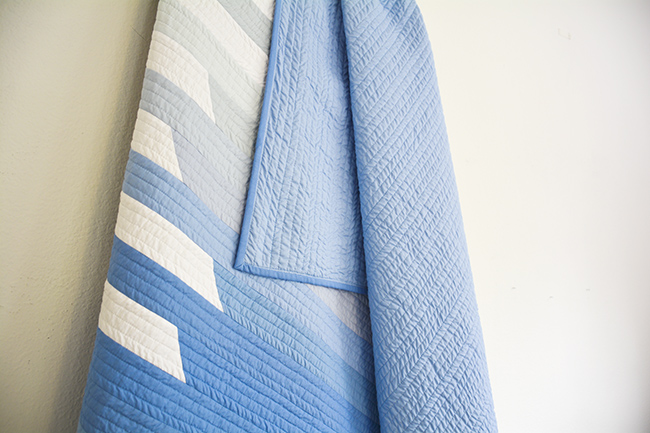 baby blue ombre cascade quilt initial k studio