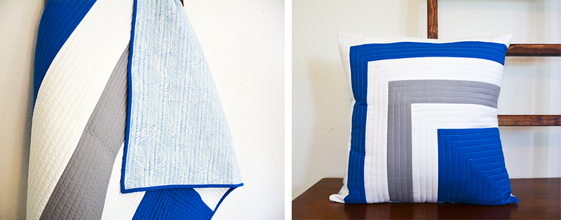 Initial K Studio Quilt & Pillow