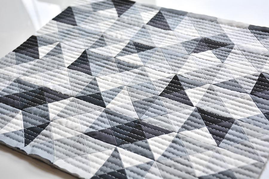 Initial K Studio Quilt Maquette - Grey