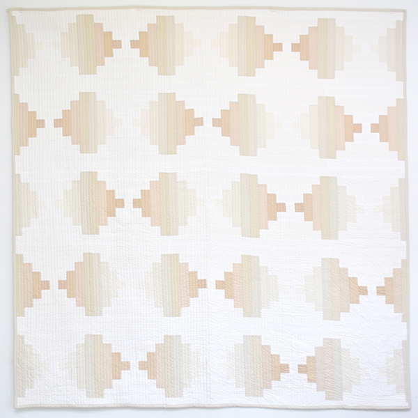 Initial K Studio Neutral Courthouse Steps Quilt