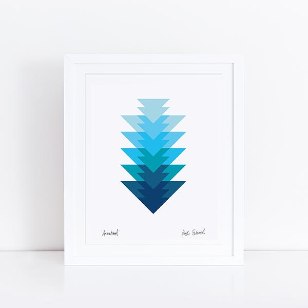 Initial K Studio Quilt Art Print - Arrowhead