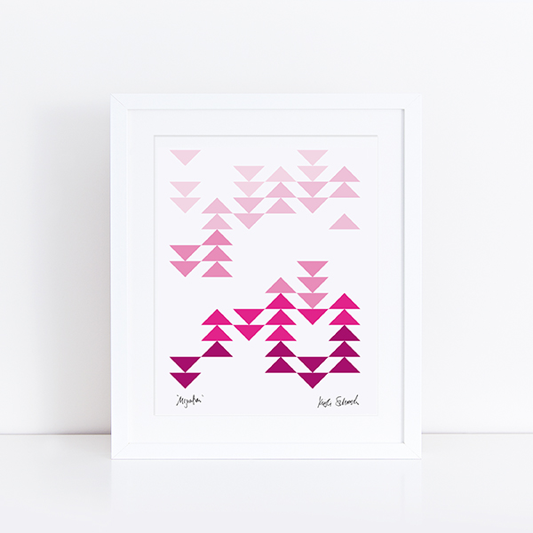 Initial K Studio Quilt Art Print - Migration