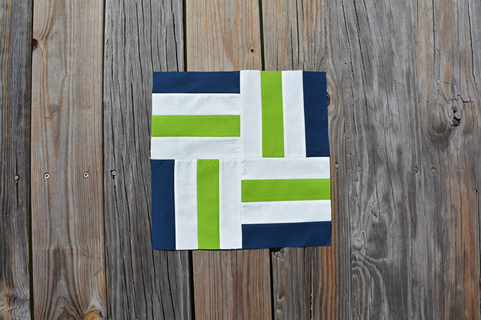 Nautical Stripes Quilt Block by Initial K Studio