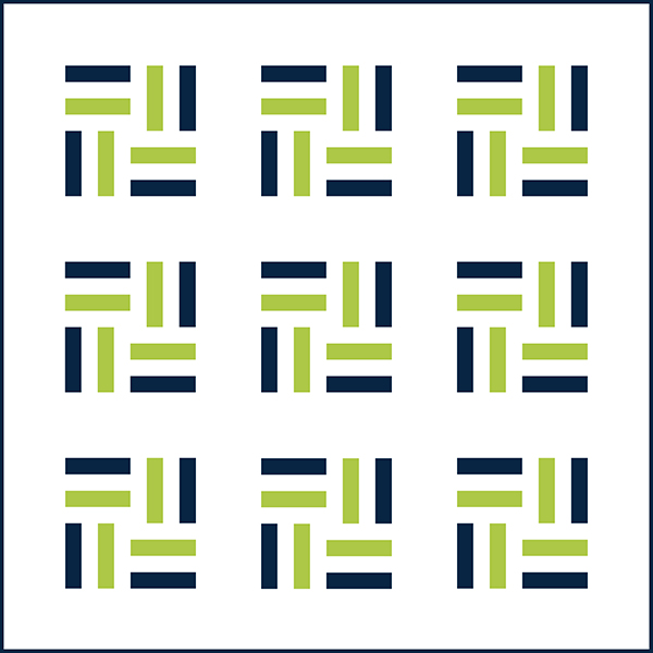 Nautical Stripes Quilt Top by Initial K Studio