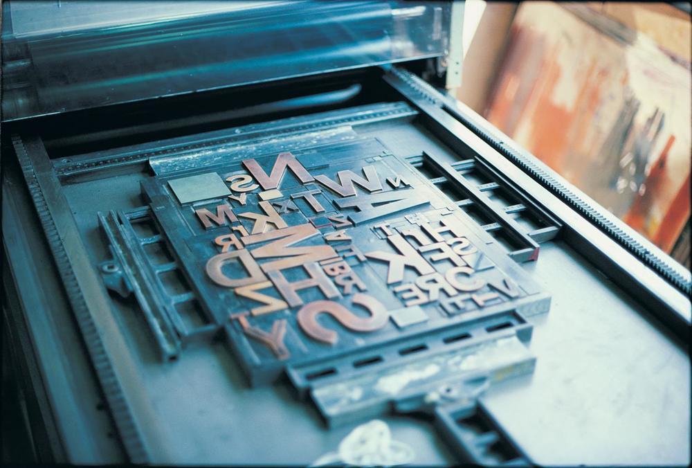 Letterpress love.