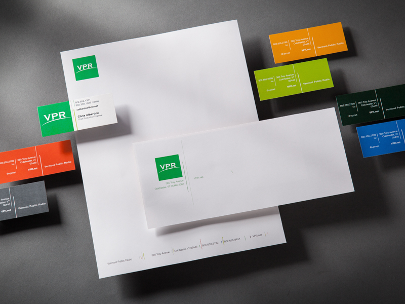 Vermont Public Radio | Stationery Design