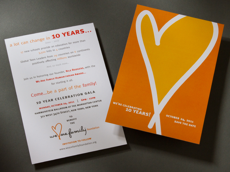 We Are Family Foundation | 2011 Save The Date Card Design