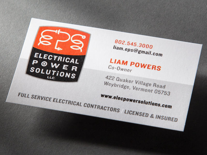 Electrical Power Solutions | Business Card Design Detail