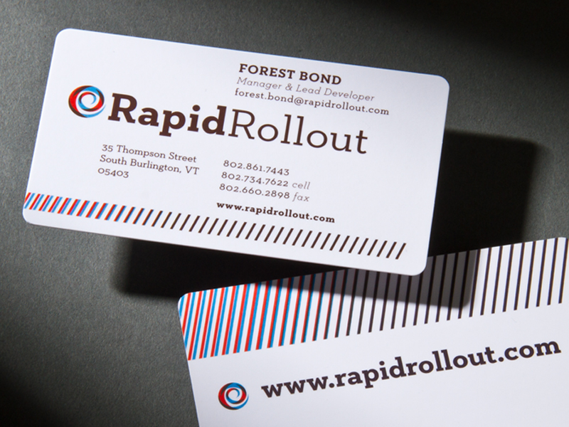 Rapid Rollout | Business Card Design Detail