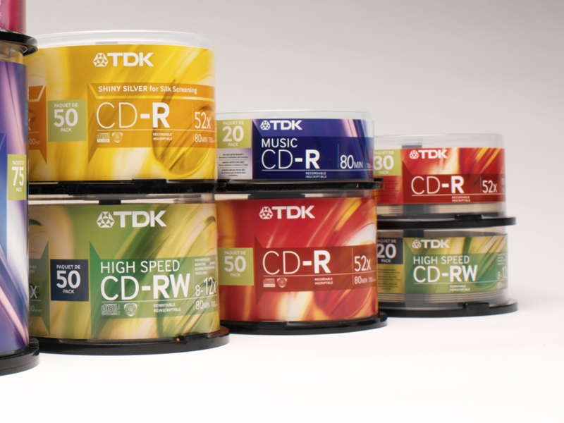 TDK Electronics Corp.  | Recordable CD Retail Cakebox Packaging Design