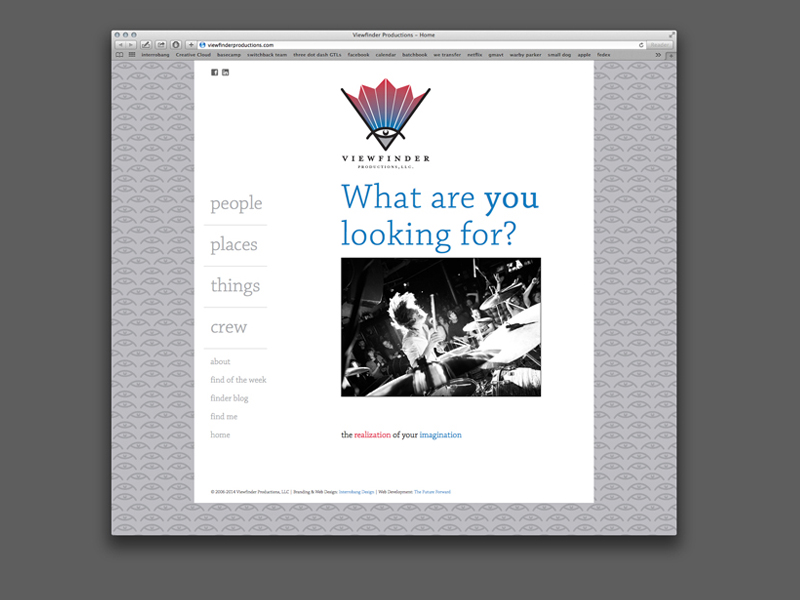 Viewfinder Productions Website Design
