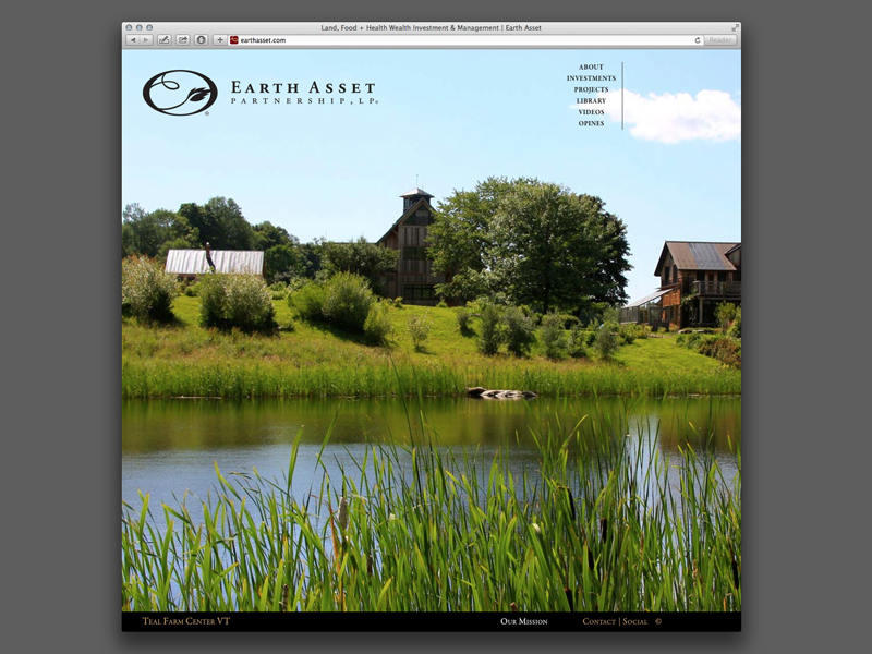 Earth Asset Partnership | Website Design Home Page