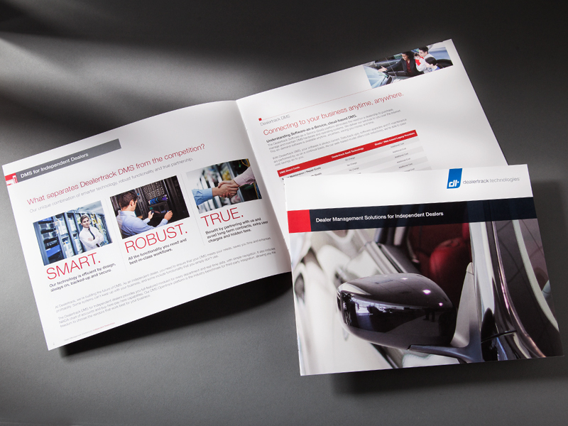 Dealertrack Technologies | Dealer Management Solutions for Independent Dealers Brochure Design