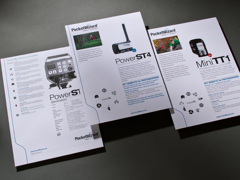 PocketWizard | Product Sheet Designs