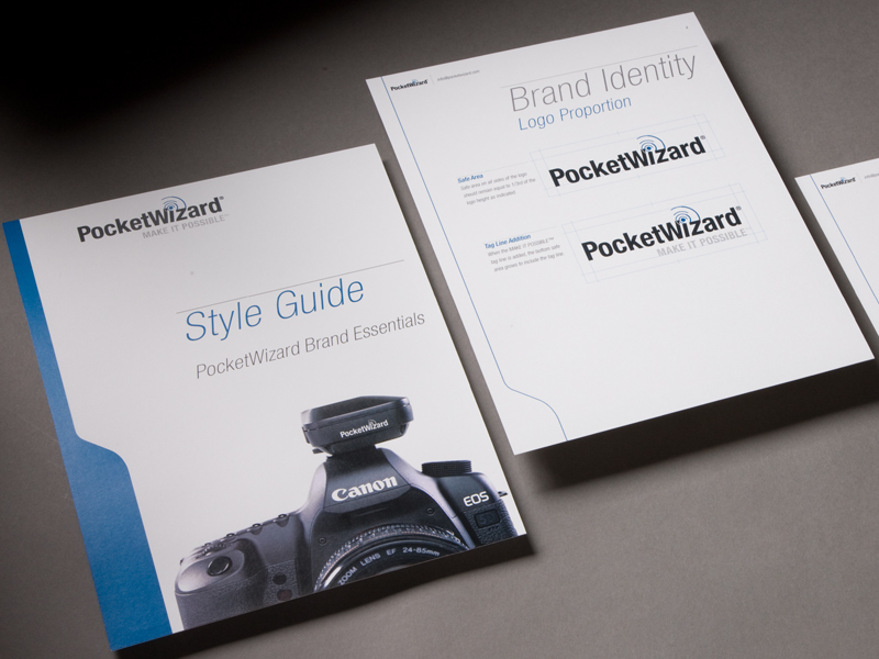 PocketWizard | Style Guide Design
